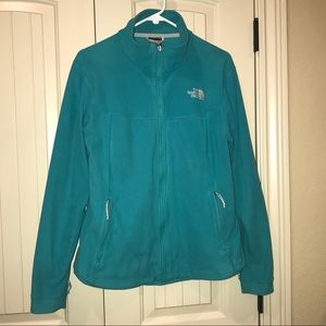 The North Face Turquoise Fleece Jacket Large